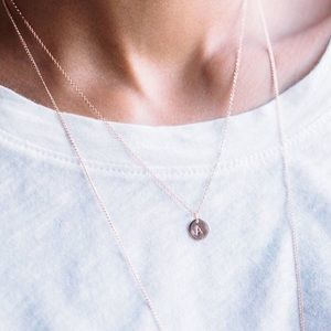 Rose Gold Initial Choker Necklace